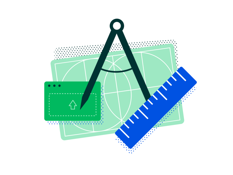 It's about making things easier icon board ruler drawing draw blueprint construction vector branding clean illustration