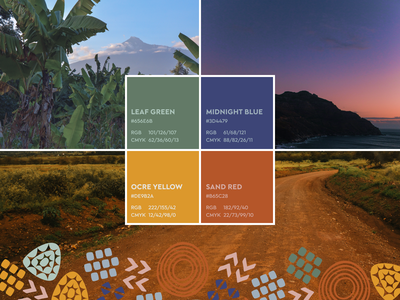 The colors of Macenta, Guinea names hex cmyk rgb colorful scheme guidelines brandbook branding brand muted tone tones nature colour palette photo inspiration colors color
