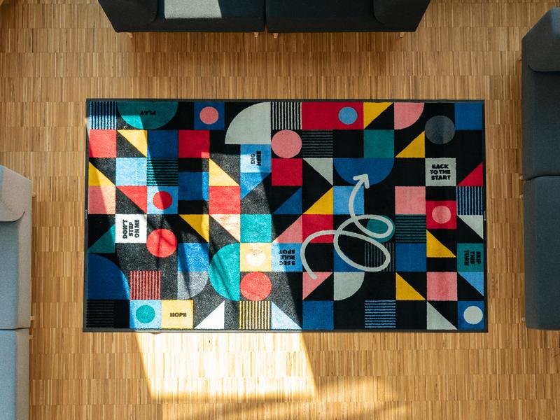 Dig Here office playful colors minimal illustration branding clean illustrations print design carpet