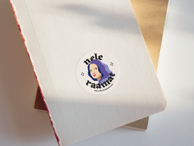 Ex Libris - Nele ex libris books stickermule sticker brand clean branding minimal design illustration