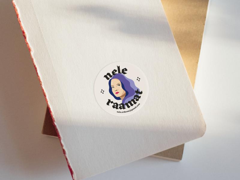 Ex Libris - Nele ex libris books stickermule sticker brand clean branding minimal design illustration