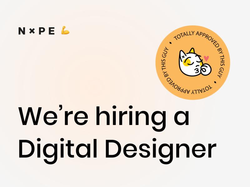 We're hiring! emoji illustration art branding ui uxui ux designer estonia job hiring
