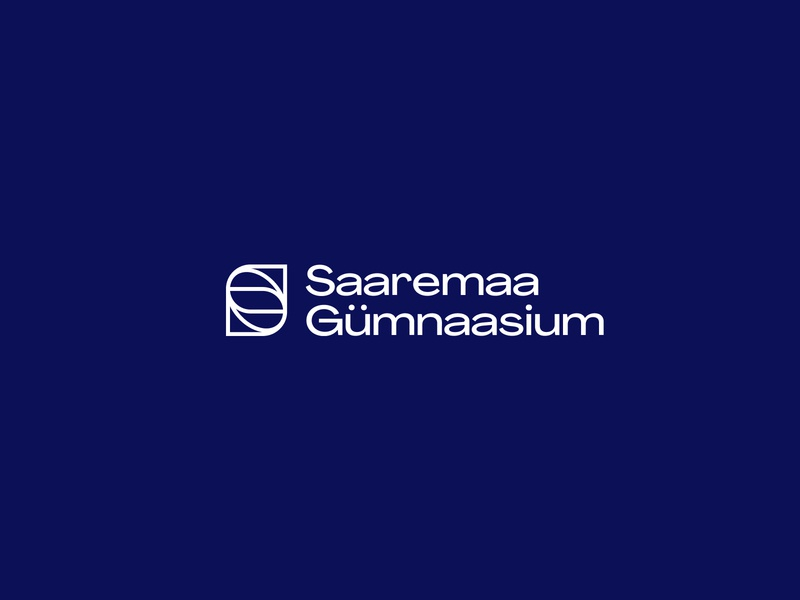 Saaremaa Gümnaasium Logo vector school logo identitydesign branding minimal