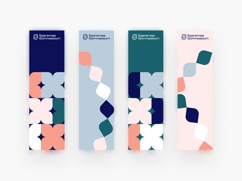 Saaremaa Gümnaasium Bookmarks design logo print minimal brand vector clean colours colourful branding illustration bookmark