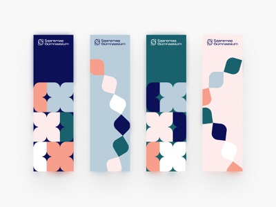 Saaremaa Gümnaasium Bookmarks design logo print minimal brand vector clean colours colourful branding illustration bookmark