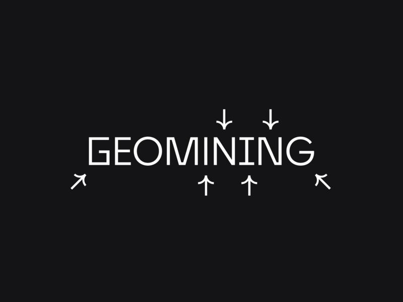 Geomining Logo minimal typography branding clean design mark logo brand
