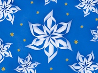 Snowy gift wrap