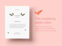 Wedding Role Certificates