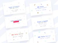 GDG Season Two and Three Event Headers