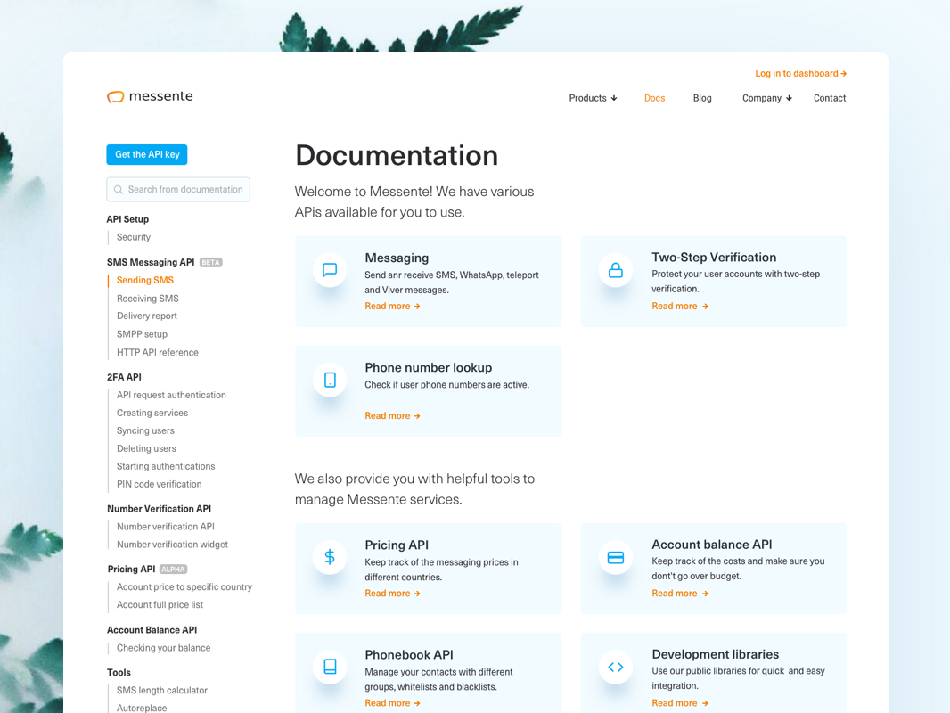 Documentations dribbble