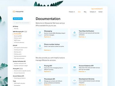 Everything is documented. minimal blue sidebar documentation it corporate developers brand ux ui web