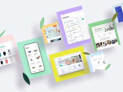 NOPE Works card minimal branding clean animation responsive mobile app landing web ui ux