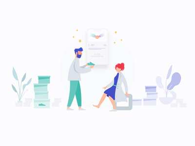 naoo engaging businesses and individuals app landing vector clean design ui web ux illustration minimal