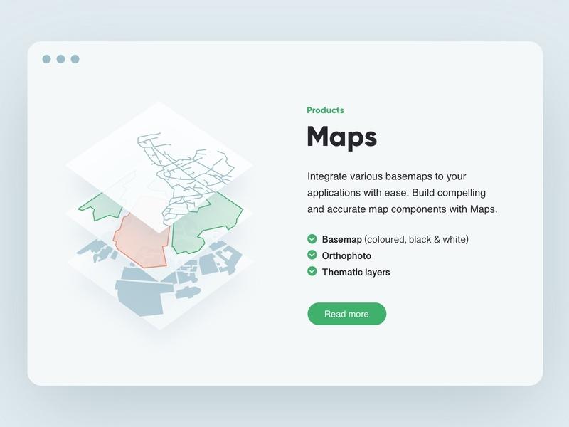 Layered 🌍 bullets layout products web illustration maps design ux ui