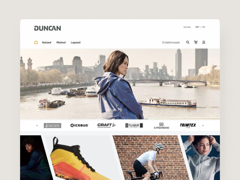Dunkin' Duncan uxui swag shoes sports apparel clean landing e-commerce ux commerce shop