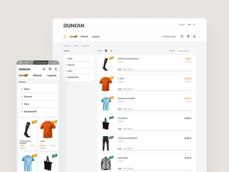 Duncan shop buy shopping dribbble product design flow e-commerce socks shirt swag apparel sports shop