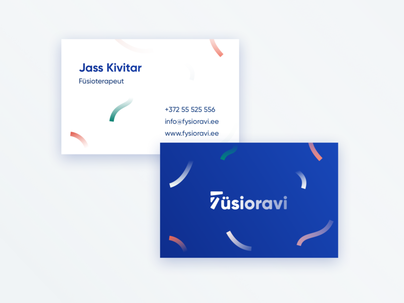 Physical Therapist Branding doctor medical health card businesscard tape therapy logo minimal branding clean design