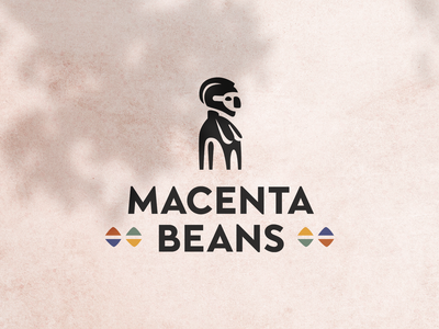 Macenta beans ☕🌱 logotype nimba farming roast coffee africa mark branding brand identity logo