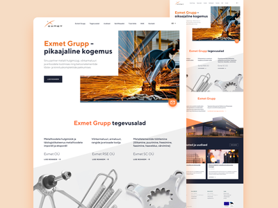 Igniting some sparks full screen grid whitespace simple white images steel metal construction website viewport section hero design landing minimal clean ui ux web