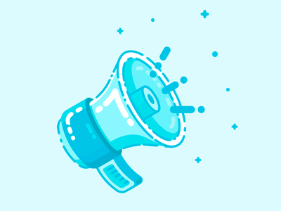 Megaphone marketing icon illustration megaphone