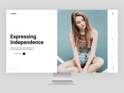 ARTEM modern minimal designer creative clean agency