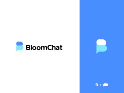 Bloomchat Logo chat branding type logo design logotype
