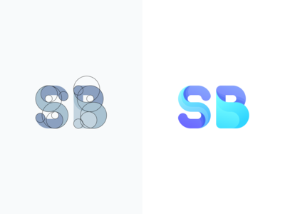 SB Log illustration typography logo type logotype logo design chat branding