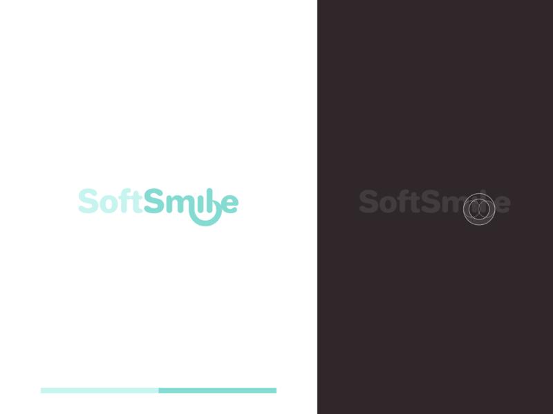 SoftSmile logodesign minimal brand design brand identity branding typography logotype logo