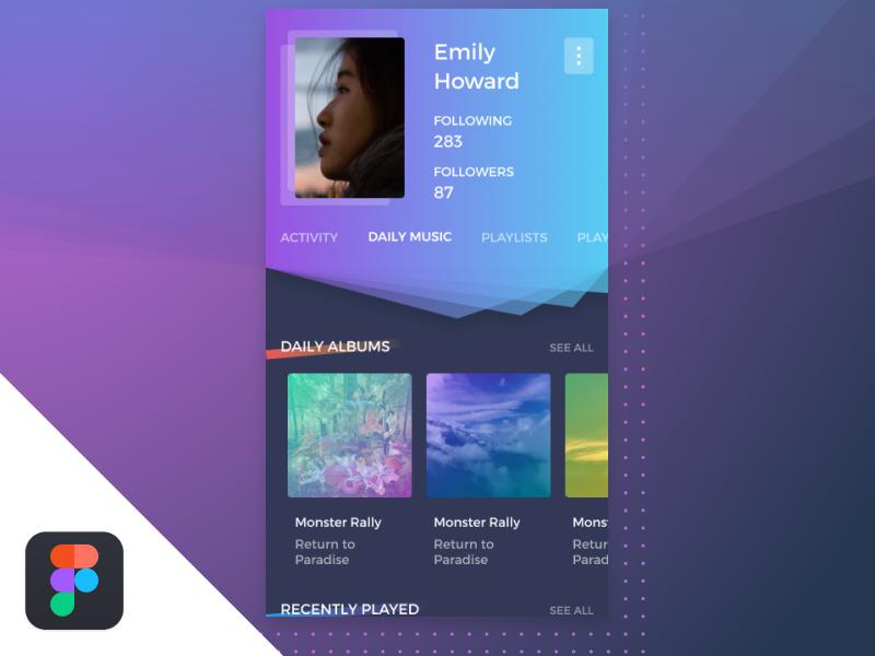 Music app profile