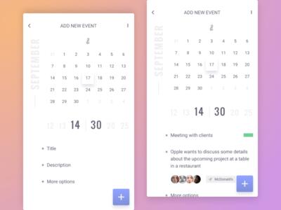 Calendar - Scheduler