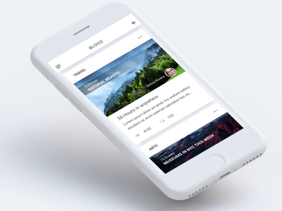 Simple Blog app white minimalism minimal ui text simple read paragraph news blog article app