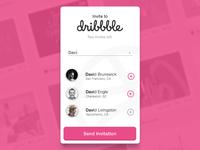 Day 21 - Dribbble Invite