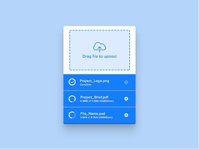 Day 41 - File Upload Widget widget unit transfer storage safe move folder file cut copy cloud