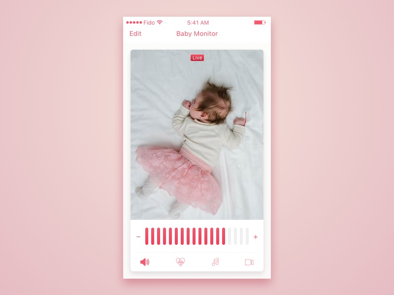Day 69 - Baby Monitor zoom video monitor mobile dailyui ios camera baby app activity