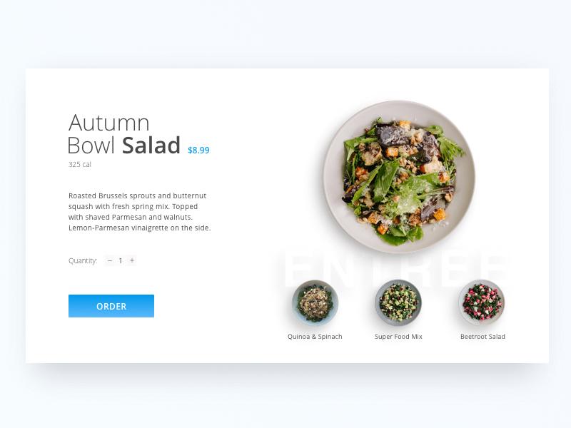 Day 70 - Food Order snack restaurant plate order food cook menu salad