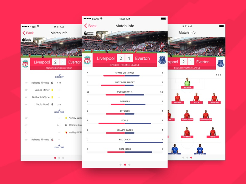 Day 75 - Football App timeline mobile match ios formation football application