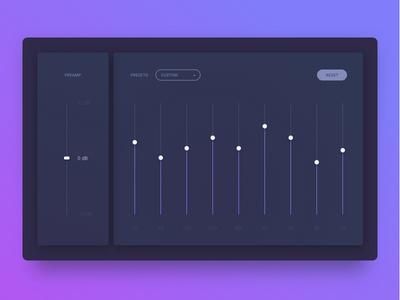 Day 90 - Equalizer tune reset presets music mixer equalizer dj custom audio