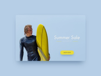 Day 91 - Slide yellow apparel popup sketch blue ios web flat ux app ui design