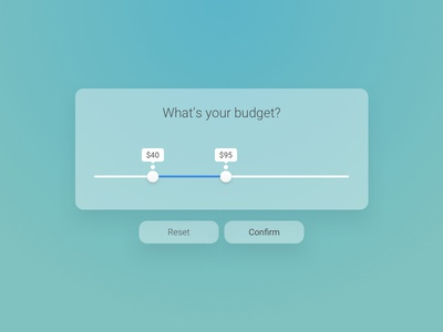 Day 96 - What Is Your Budget  ui slider send inquire form button budget
