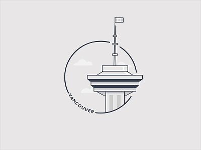 Vancouver City Badge web flat ux app vector icon city vancouver ui design logo illustration