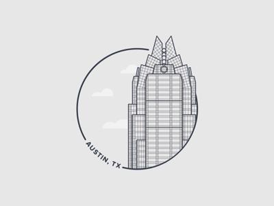 Austin Badge web vector texas austin ux ui logo illustration icon flat design city