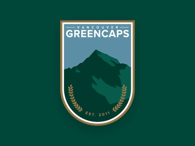 Vancouver Greencaps Crest mountains vector canada vancouver sports soccer team logo football crest ball badge