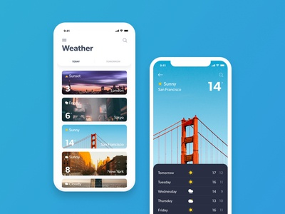 Uplabs Weather App Challenge sketch summer flat card ios ux icon weather app ui design