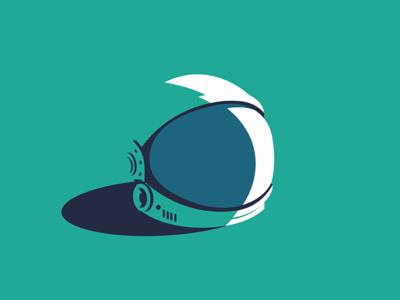 Astronaut Helmet animation web flat ux app vector icon ui design illustration