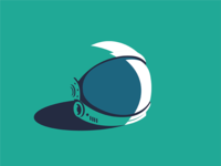 Astronaut Helmet animation web flat ux app vector icon ui design illustration