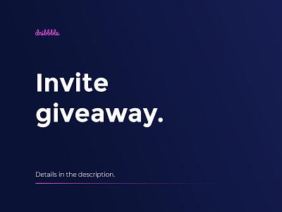 Invite Giveaway ux web design branding ui vector app interface illuatration ui  ux design dribbble debut draft invite giveaway