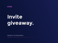 Invite Giveaway ux web design branding ui vector app interface illuatration ui  ux design dribbble debut draft invite giveaway