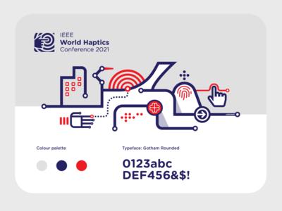 2021 World Haptic Conference Branding montreal cityscape city illustration logo logo design brand design branding illustration