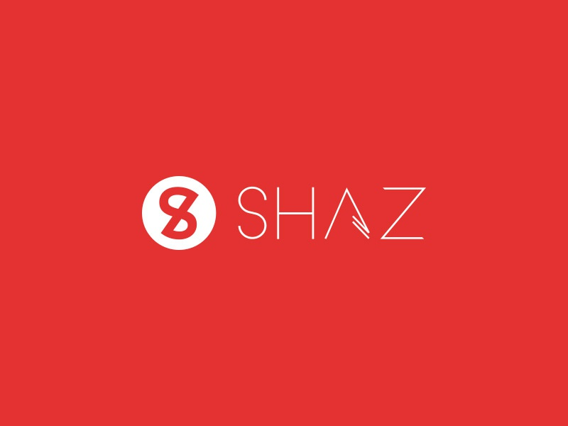 SHAZ logo shaz urban clothing shirts brand identity red
