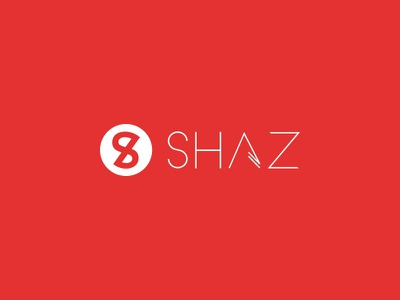 SHAZ logo shaz urban clothing shirts brand identity red